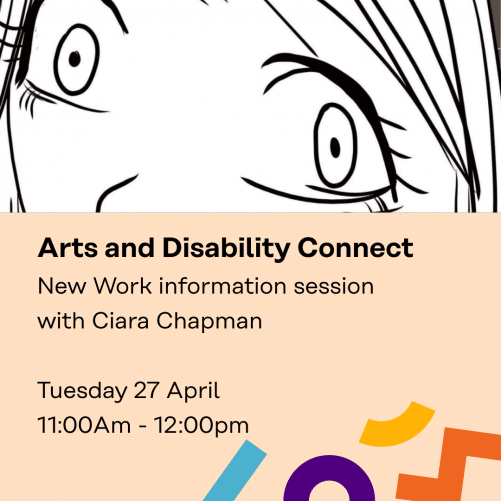 The Top Of The Image Is A Black And White Sketch Of The Upper Half Of A Woman's Face By Ciara Chapman. Below Are Details Of The Info Clinic As Shared Above.