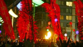 City Of Dublin Winter Solstice Celebration Fire Ceremony At Smithfield Square