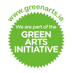 We're part of the The Green Arts Initiative